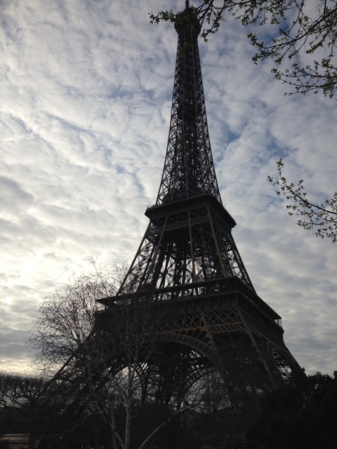 eiffel tower day - cloudy