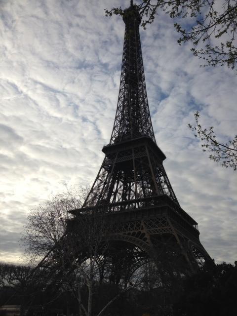 eiffel tower day - cloudy