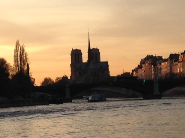 view of nd from bateau mouche